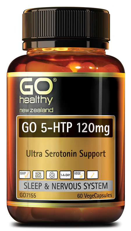 GO 5-HTP 120mg - Ultra Serotonin Support (60 Vcaps)