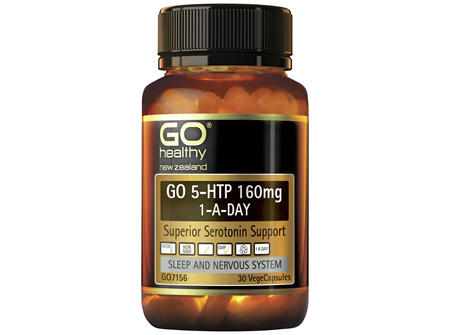 GO 5-HTP 160mg 1-A-Day 30 VCaps