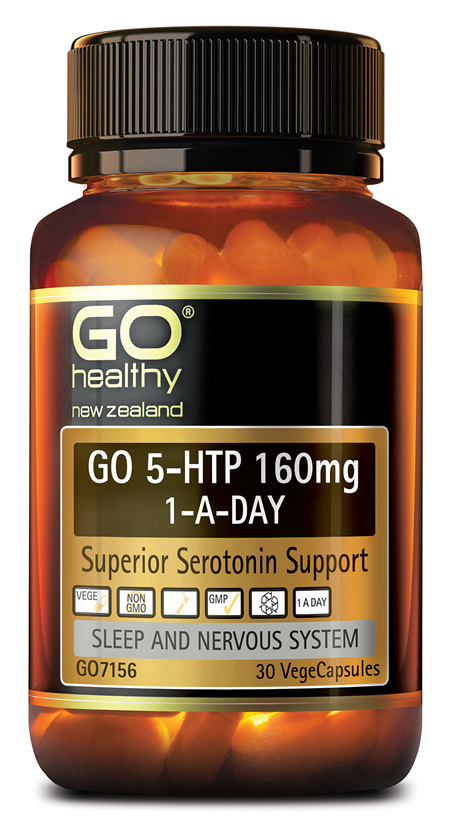 GO 5-HTP 160MG 1-A-DAY - SUPERIOR SEROTONIN SUPPORT (30 VCAPS)