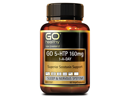 GO 5-HTP 160mg 1-A-DAY - Superior Serotonin Support (60 Vcaps)