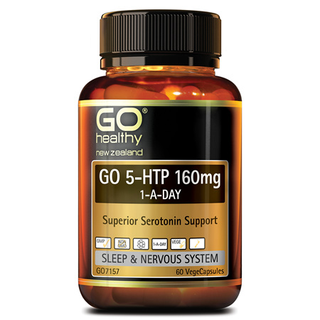 GO 5HTP 160mg 1-A-Day 60vcaps
