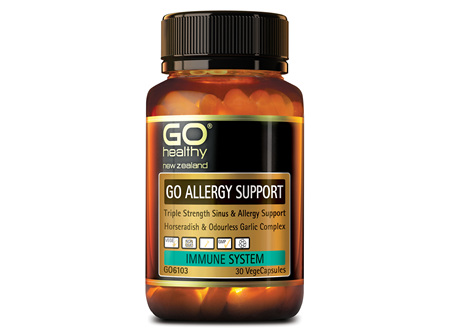 GO ALLERGY SUPPORT - Triple Strength Sinus & Allergy Support (30 Vcaps)