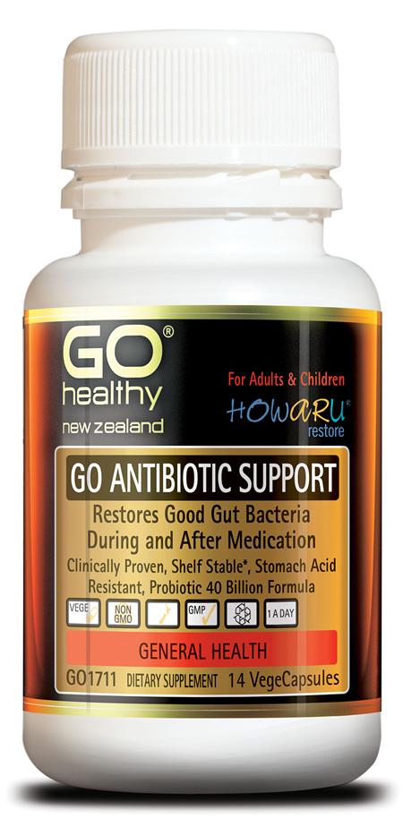 GO ANTIBIOTIC SUPPORT - PROBIOTIC 40B HOWARU RESTORE® (14 VCAPS)