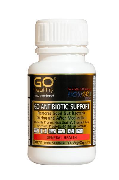 GO ANTIBIOTIC SUPPORT - Probiotic 40B HOWARU Restore (14 Vcaps)