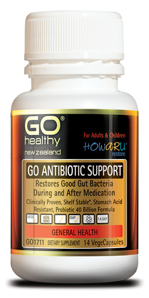 GO ANTIBIOTIC SUPPORT - Probiotic 40B HOWARU Restore (14 Vcaps)
