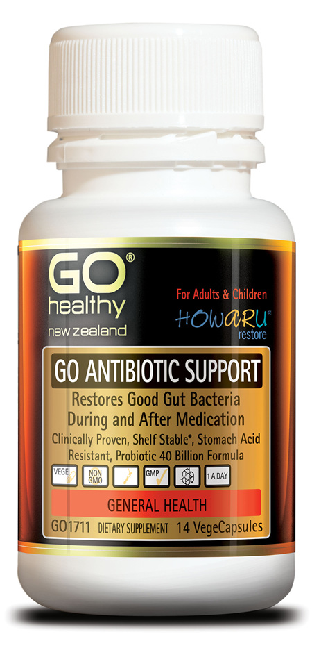 GO ANTIBIOTIC SUPPORT - PROBIOTIC 40B HOWARU RESTORE® (14 VCAPS)