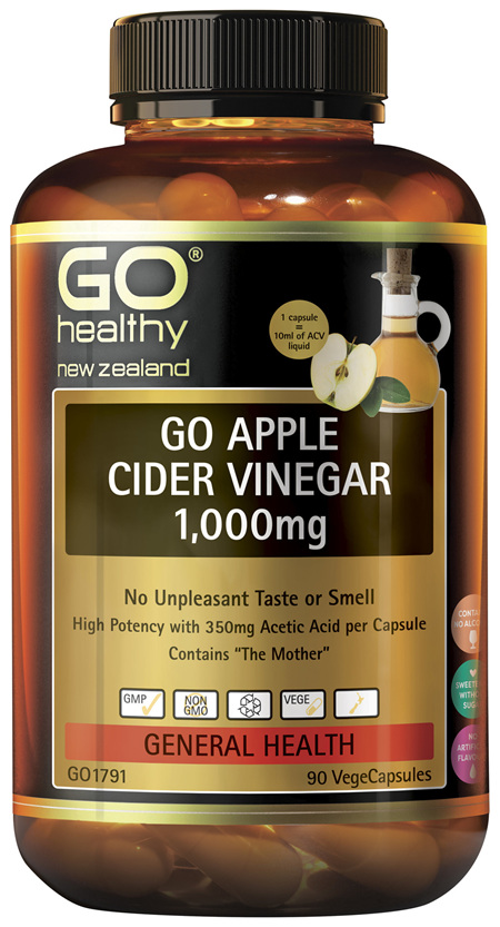 GO Apple Cider Vinegar 1,000mg 90VCaps