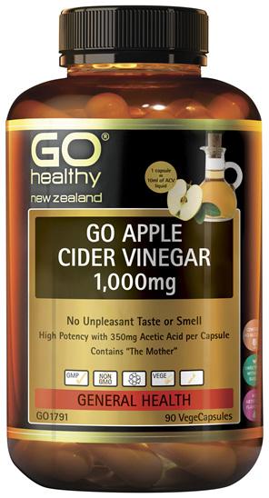 GO Apple Cider Vinegar 1,000mg 90VCaps