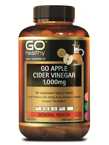 GO Apple Cider Vinegar 1000mg (90Vcaps)