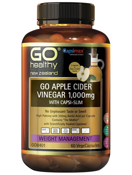 GO Apple Cider Vinegar 1,000mg with Capsi Slim 60 VCaps