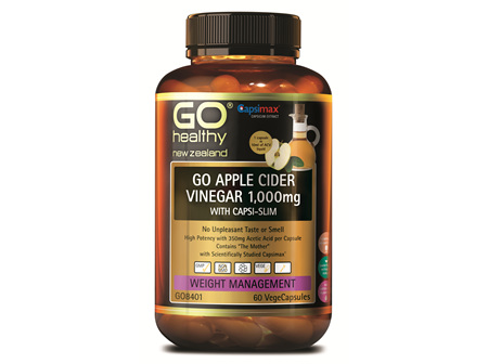 GO APPLE CIDER VINEGAR 1000MG WITH CAPSI-SLIM (60VCAPS)