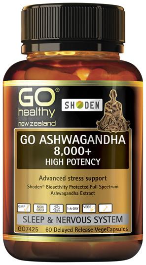 GO Ashwagandha 8,000 + 60 DR VCaps