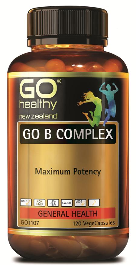 GO B COMPLEX - Maximum Potency (120 Vcaps)