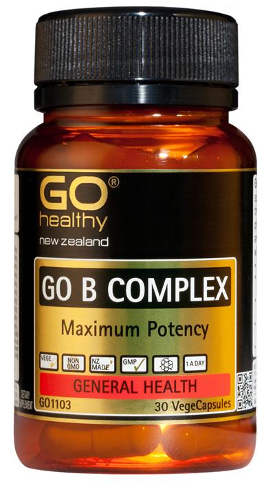 GO B COMPLEX - Maximum Potency (30 Vcaps)