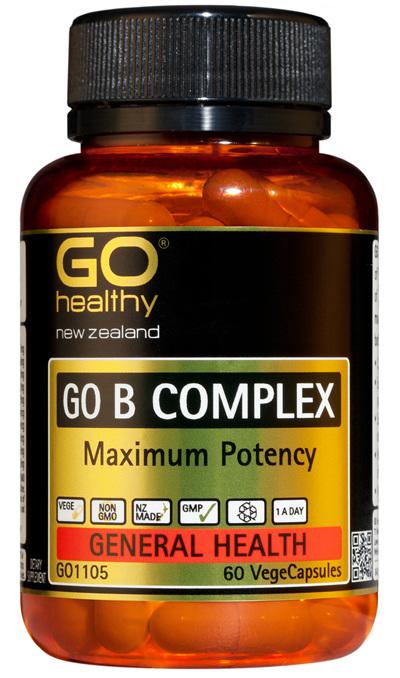 GO B COMPLEX - Maximum Potency (60 Vcaps)