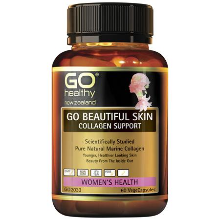 GO Beautiful Skin Collagen Support 60vcap