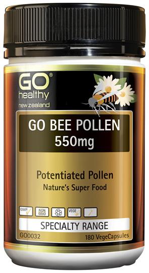 GO Bee Pollen 550mg 180 VCaps