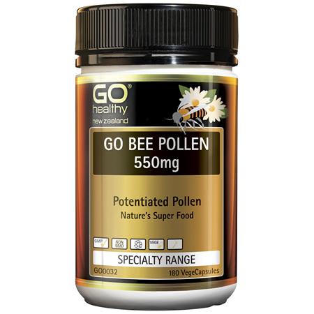 GO Bee Pollen 550mg 180vcaps