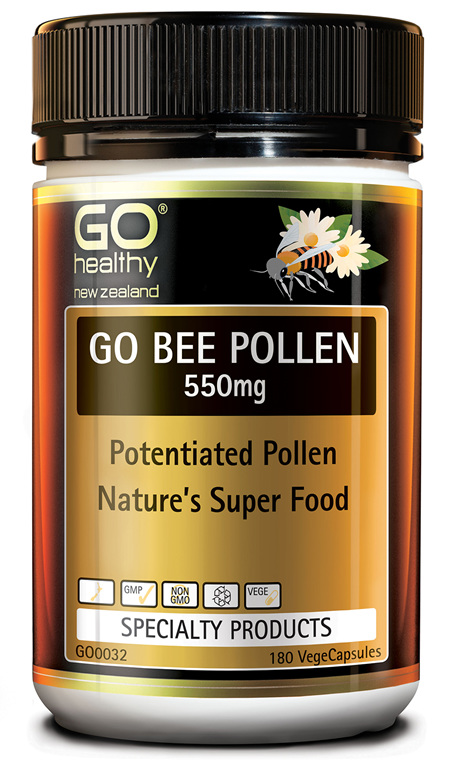 GO BEE POLLEN 550MG - NATURE'S SUPERFOOD (180 VCAPS)