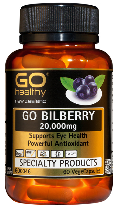 GO BILBERRY 20,000mg - Supports Eye Health and Vision (60 Vcaps)