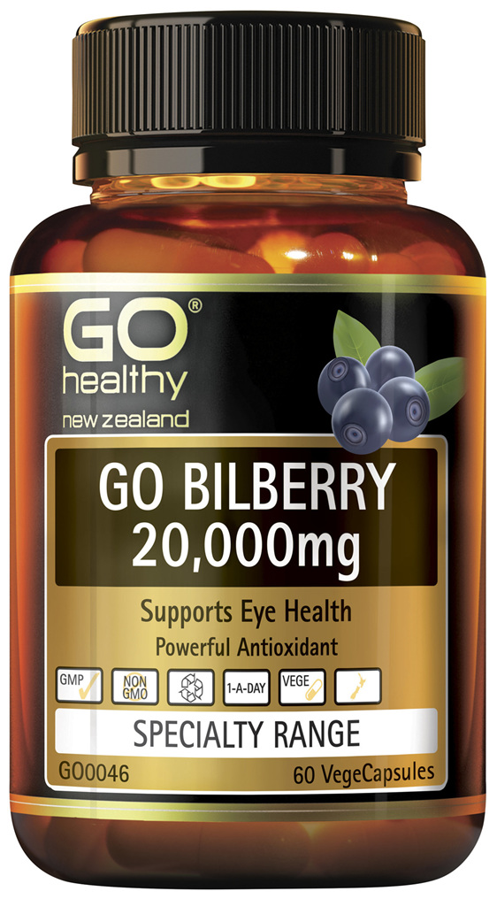 GO Bilberry 20,000mg 60 Vcaps