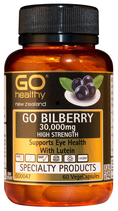 GO BILBERRY 30,000mg - High Strength Eye Health and Vision Support (60 VCaps)