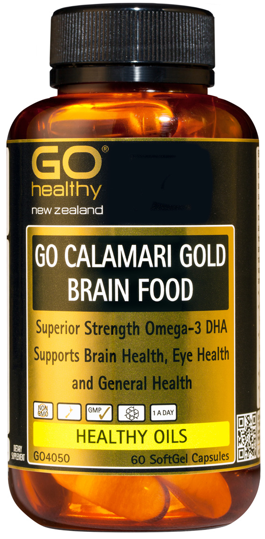 GO CALAMARI GOLD BRAIN FOOD (60 Caps)