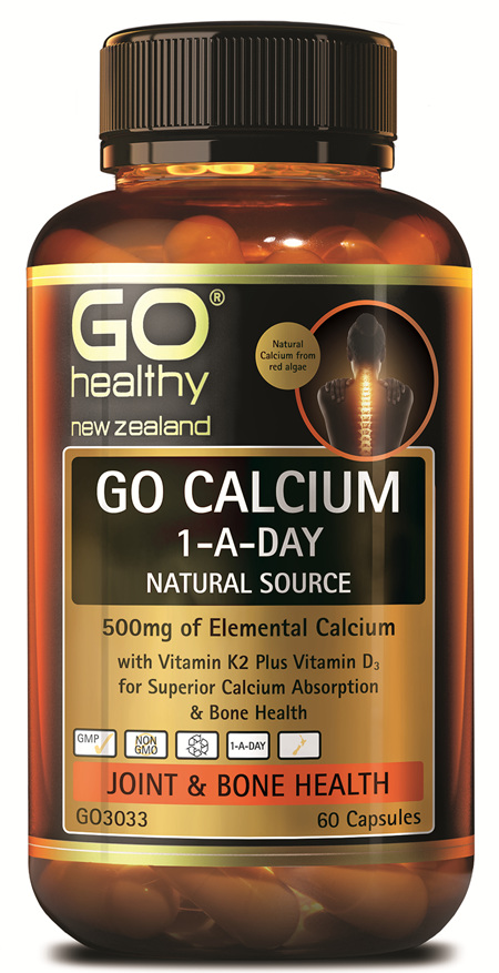 GO CALCIUM 1-A-DAY - NATURAL, 500MG ELEMENTAL CALCIUM (60 CAPS)