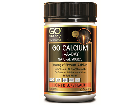 GO CALCIUM 1-A-DAY - NATURAL, 500MG ELEMENTAL CALCIUM (120 CAPS)