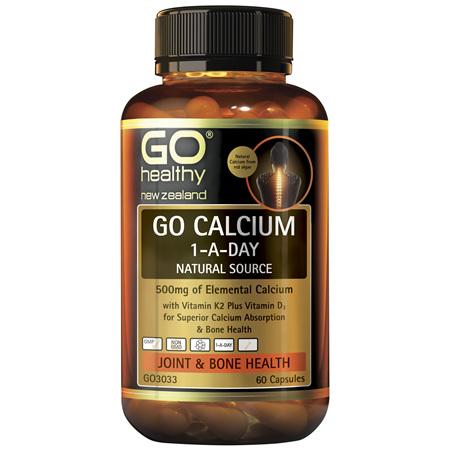 GO Calcium 1-A-Day Natural Source 60caps