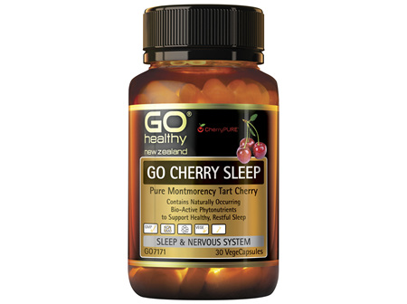 GO CHERRY SLEEP  Pure Montmerancy Tart Cherry  30 Vcaps