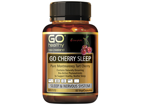 GO CHERRY SLEEP  Pure Montmerancy Tart Cherry  60 Vcaps