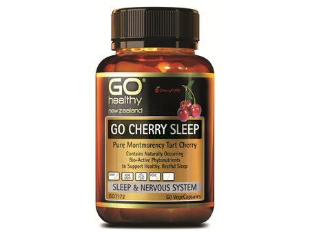 GO CHERRY SLEEP - PURE MONTMERANCY TART CHERRY  (60 VCAPS)