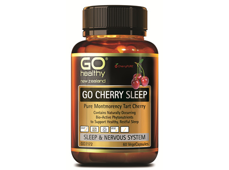 GO CHERRY SLEEP - Pure Montmerancy Tart Cherry  (60 Vcaps)