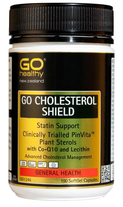 GO CHOLESTEROL SHIELD - Statin Support (100 Caps)