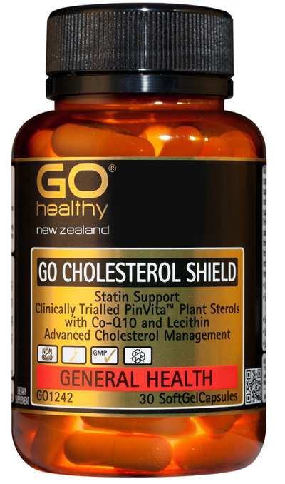 GO CHOLESTEROL SHIELD  - Statin Support (30 Caps)