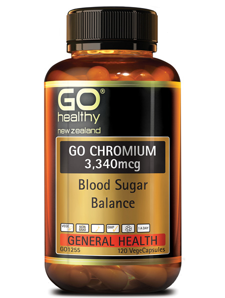GO CHROMIUM 3340mcg - Blood Sugar Balance (120 Vcaps)