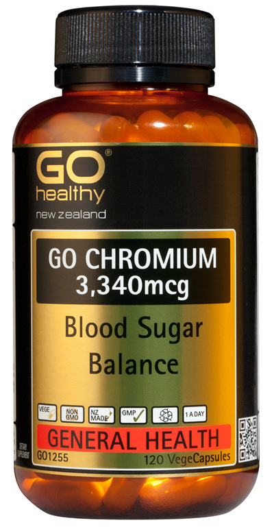 GO CHROMIUM 3340mcg - Blood Sugar Balance (120 Vcaps)