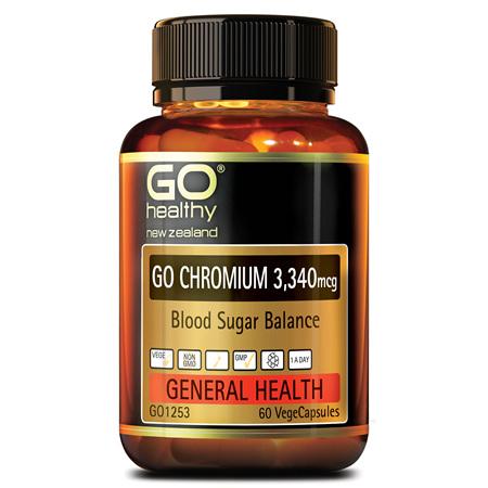 GO CHROMIUM 3340MCG - BLOOD SUGAR BALANCE (60 VCAPS)