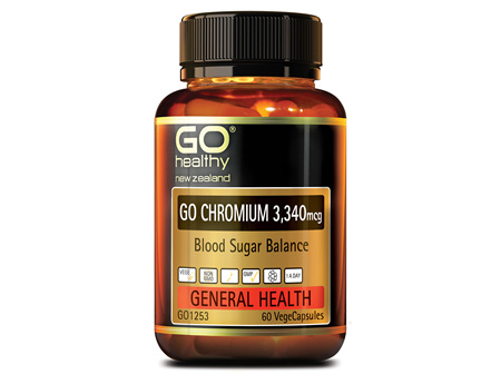 GO CHROMIUM 3340mcg - Blood Sugar Balance (60 Vcaps)