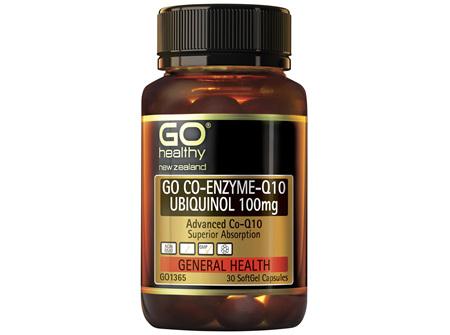 GO Co-Enzyme-Q10 Ubiquinol 100mg 30 Caps