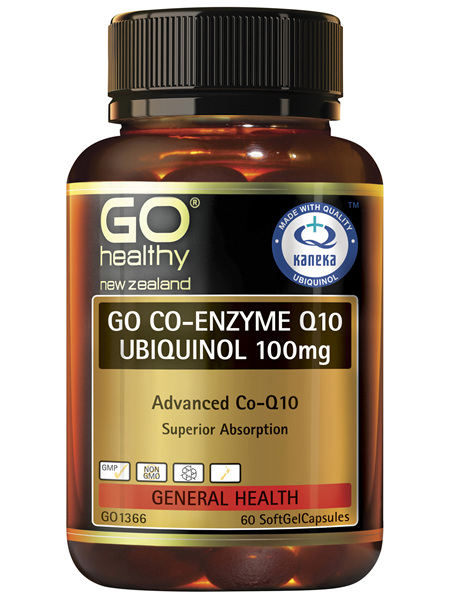 GO Co-Enzyme Q10 Ubiquinol 100mg 60 Caps