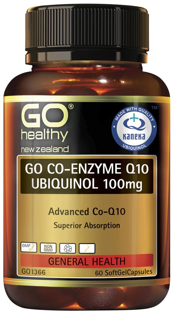 GO Co-Enzyme Q10 Ubiquinol 100mg 60 Caps