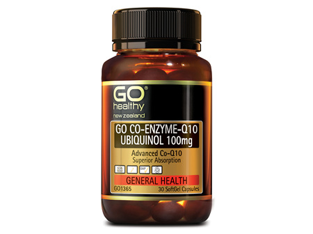 GO CO-ENZYME Q10 UBIQUINOL 100MG - ADVANCED CO-Q10 (30 CAPS)