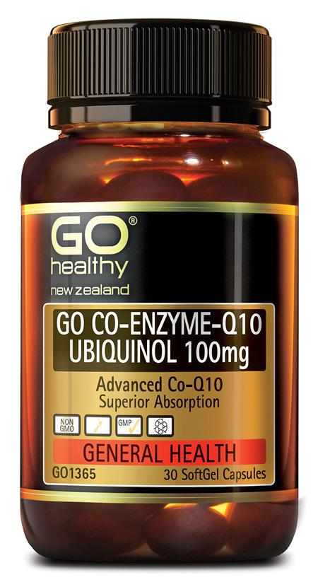 GO CO-ENZYME Q10 UBIQUINOL 100mg - Advanced Co-Q10 (30 caps)