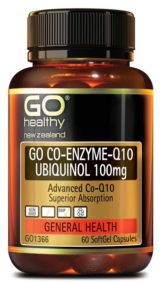 GO CO-ENZYME Q10 UBIQUINOL 100MG - ADVANCED CO-Q10 (60 CAPS)
