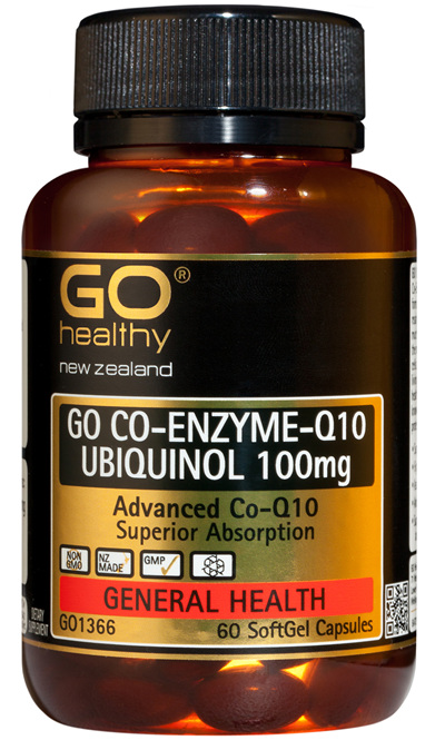 GO CO-ENZYME Q10 UBIQUINOL 100mg - Advanced Co-Q10 (60 caps)