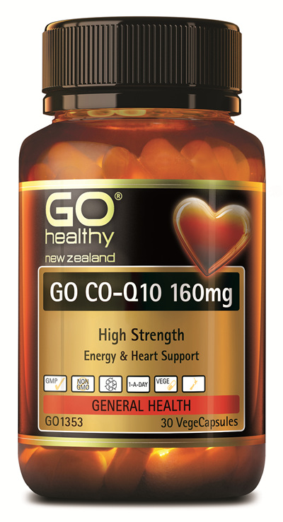 GO CO-Q10 160mg - High Strength Energy and Heart Support (30 Vcaps)