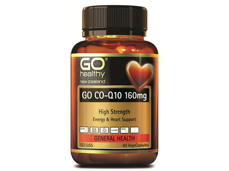 GO CO-Q10 160MG - HIGH STRENGTH ENERGY AND HEART SUPPORT (60 VCAPS)