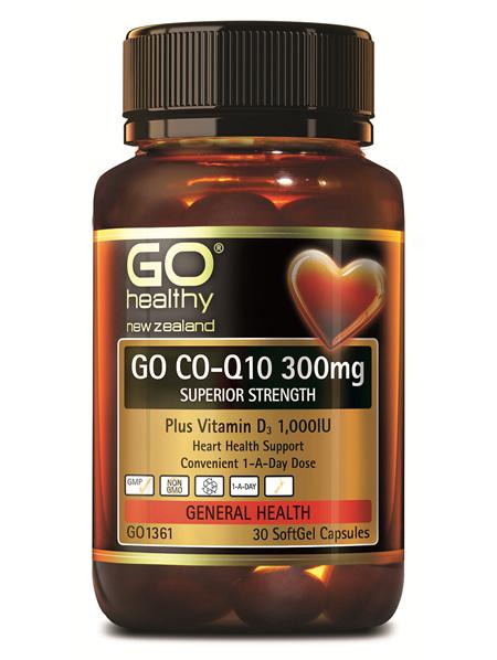 GO CO-Q10 300MG - SUPERIOR STRENGTH (30 CAPS)